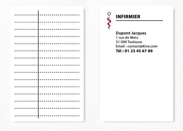 Cartes de RDV simple n°1