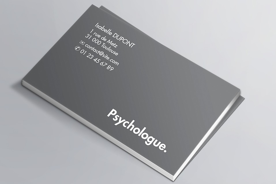 Cartes de visite visuel n°4 Psychologue