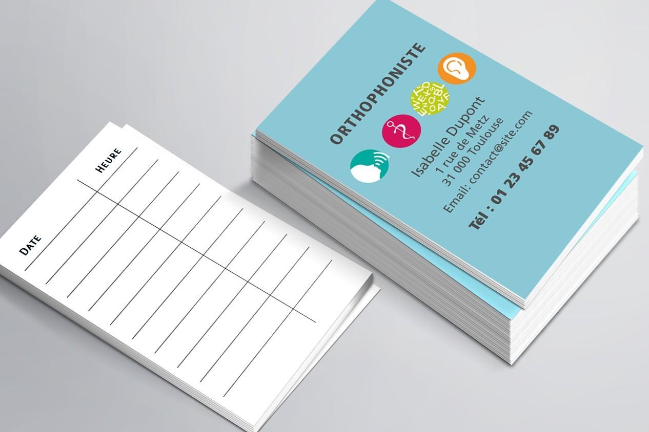 Cartes de RDV simples n°3
