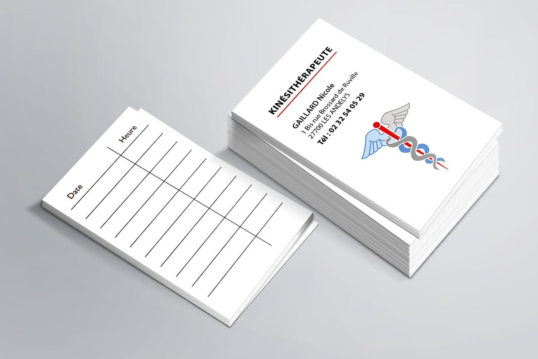 Cartes de RDV simples n°10 Kiné