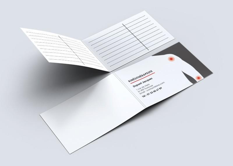 Cartes de RDV doubles n°21 Kiné