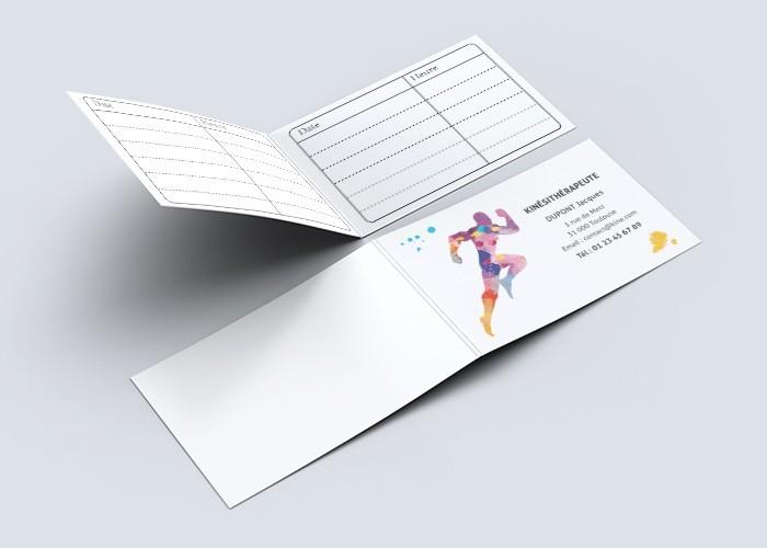 Cartes de RDV doubles n°23 Kiné