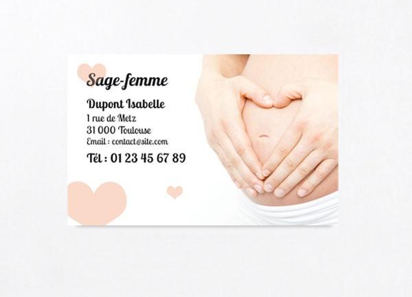 Très Carte de visite sage femme - docticard VQ54