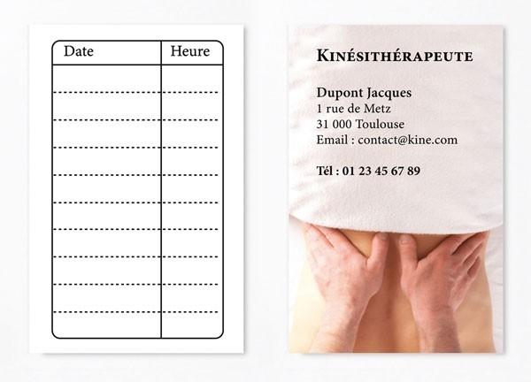 Cartes de RDV simple 2