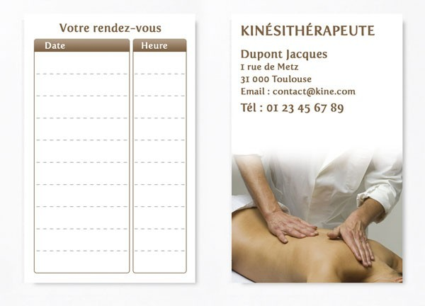 Cartes de RDV simple n°5