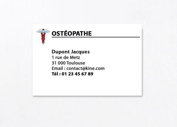 Cartes De Visite Visuel N1 Osteo Les Pour Osteopathes