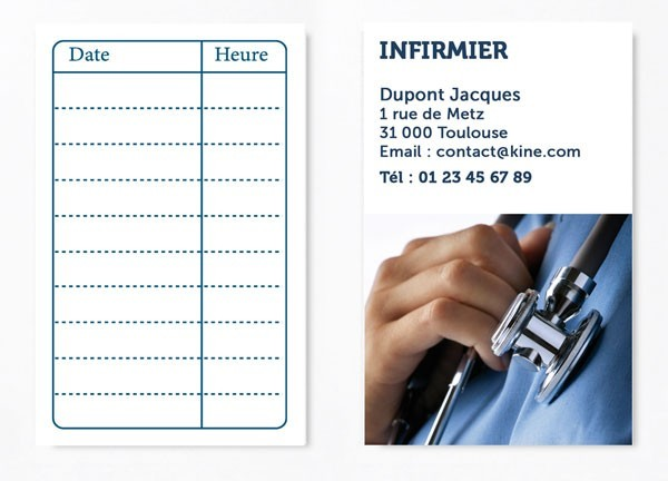 Cartes de RDV simple n°2