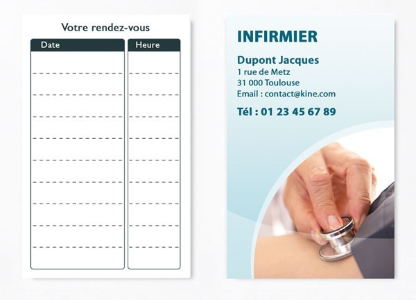 Cartes de RDV simple n°4