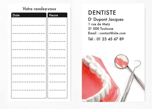 Cartes de RDV simples n°7