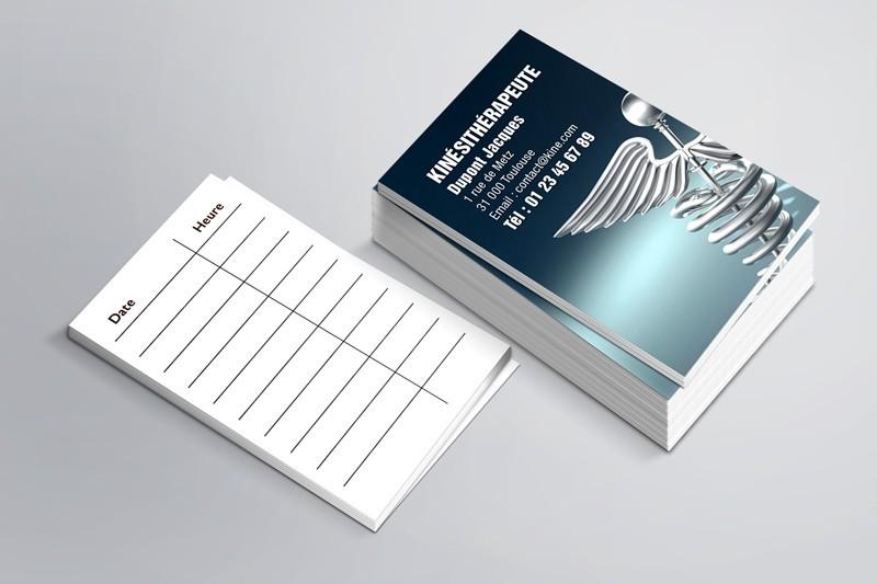 Cartes de RDV simples n°9 Kiné
