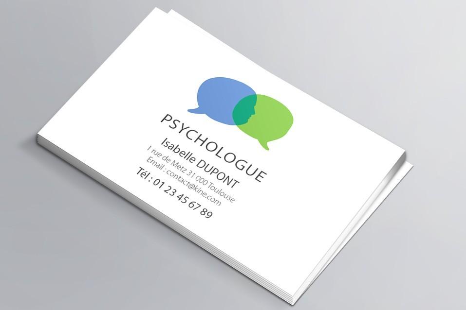 Cartes de visite visuel n°4 Psychologue