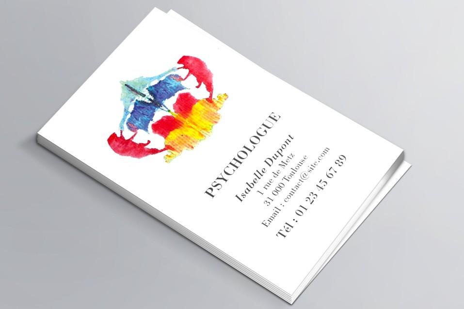 Cartes de visite visuel n°1 Psychologue