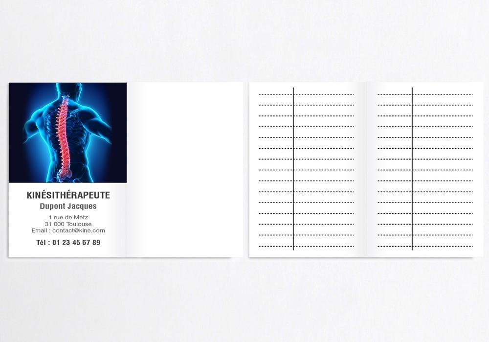 Cartes de RDV doubles n°19 Kiné