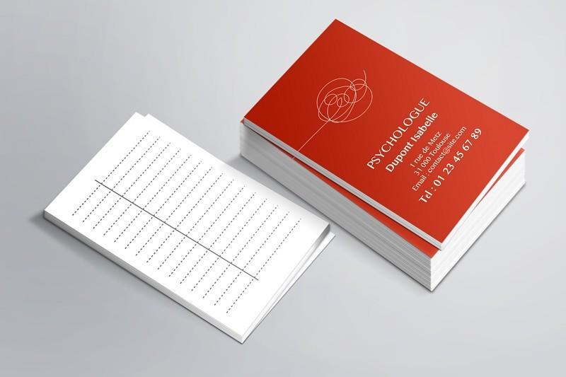 Cartes de RDV simple N°2 Psychologue
