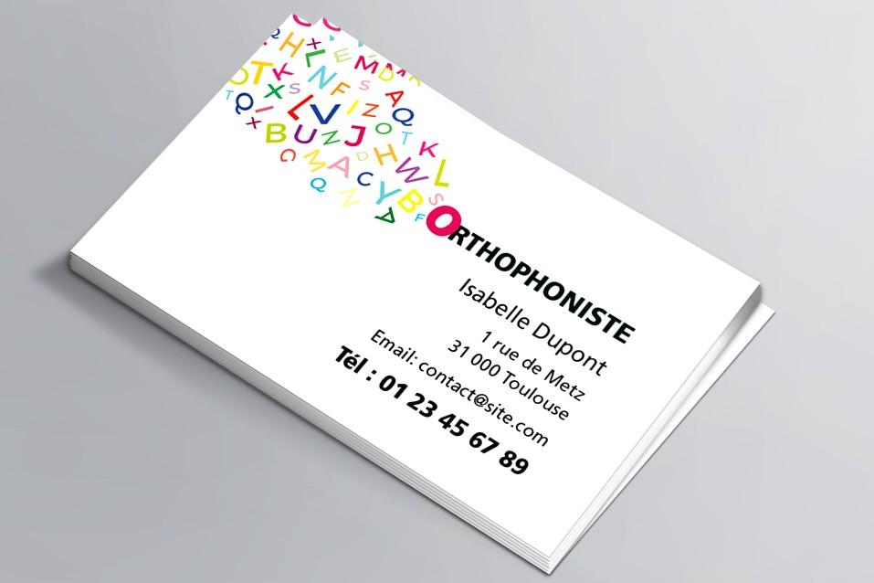 Cartes Visite Orthophoniste
