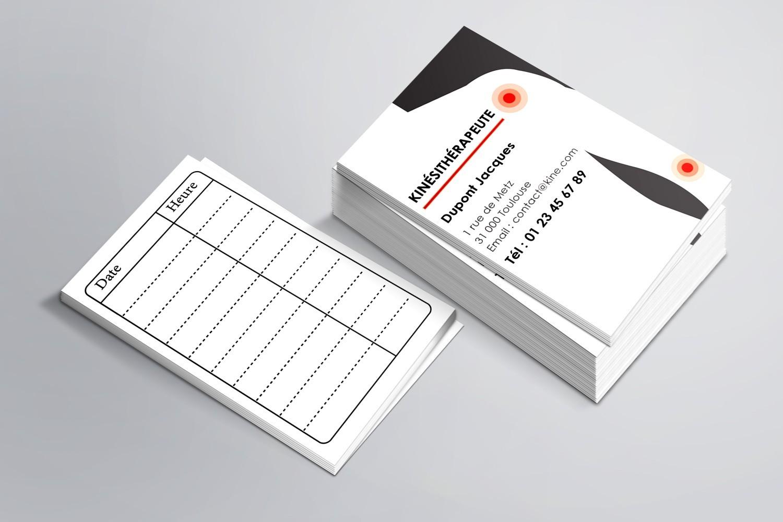 Cartes de RDV simples n°11 Kiné