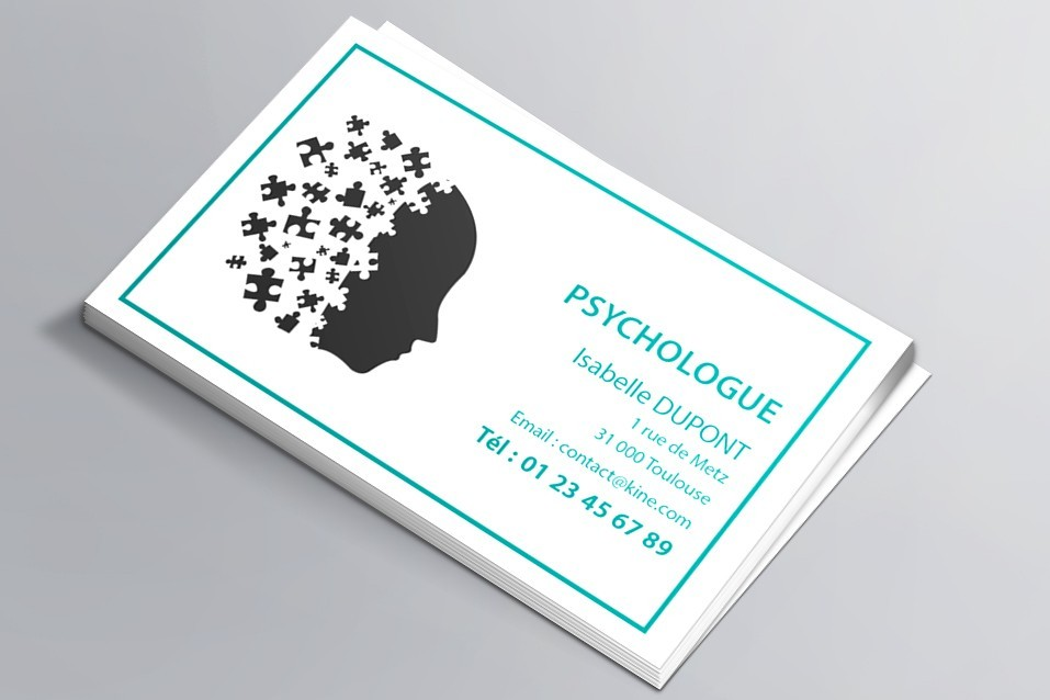 Cartes de visite visuel n°7 Psychologue