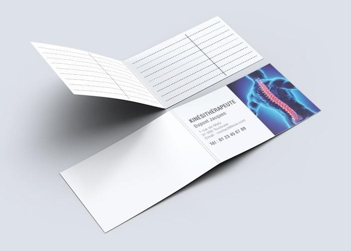 Cartes de RDV doubles n°20 Kiné