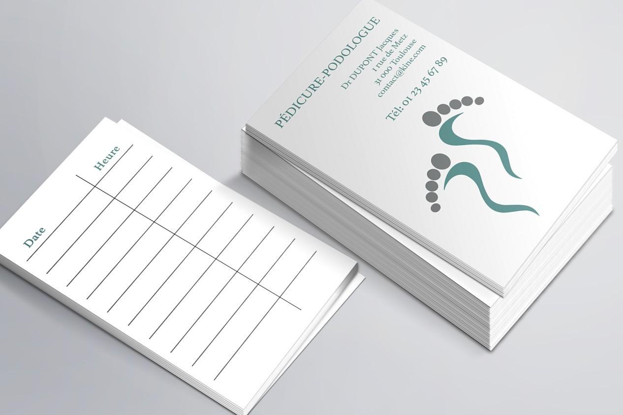Cartes de RDV simples n°6 Pédicure Podologue